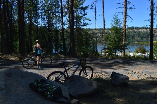 Biking at Riverside State Park, Spokane, WA
