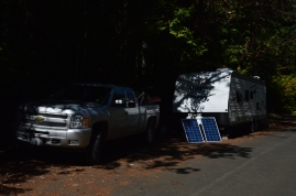 Gettin power from the sun at Seal Rock Campground on the shores of the Hood Canal