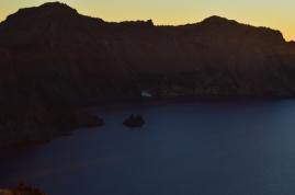 The Phantom Ship at Sunset, Crater Lake National Park