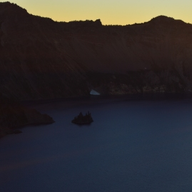 The Phantom Ship at Sunset, Crater Lake National Park