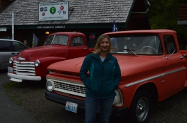 Twilight Tour of Forks, WA. Bella's Trucks, the one on the right is the movie version, the one on the left the book version