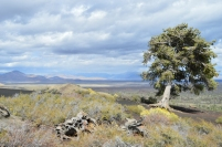 A windy day on top of a cinder cone at Craters of the Moon