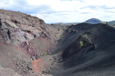 A deep crater at Craters of the Moon