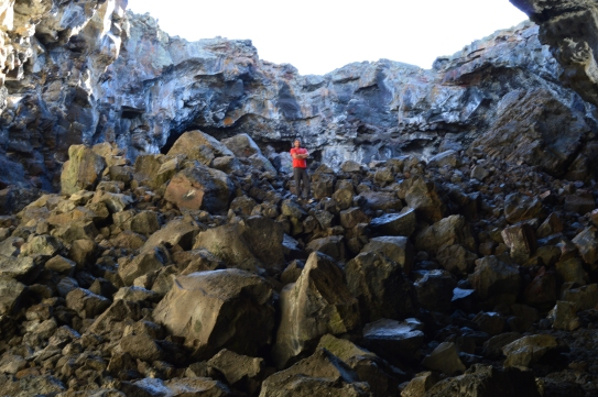 Climbing Boulders in Indian Cave at Craters of the Moon