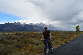 Biking around Grand Teton National Park