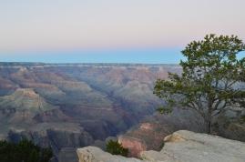 Enjoying sunset on the rim of the Grand Canyon