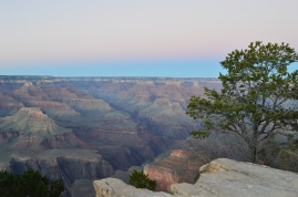 Enjoying sunset on the rim of the Grand Canyon