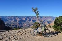 Biking the rim along the Greenway Trail