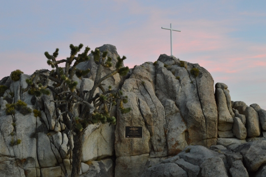 The Veteran's Memorial at Sunrise Rock in Mojave National Preserve