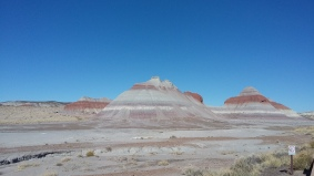 Hiking in the Painted Desert National Park, AZ