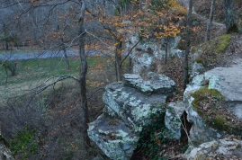 Hiking in Giant City State Park in Southern Illinois