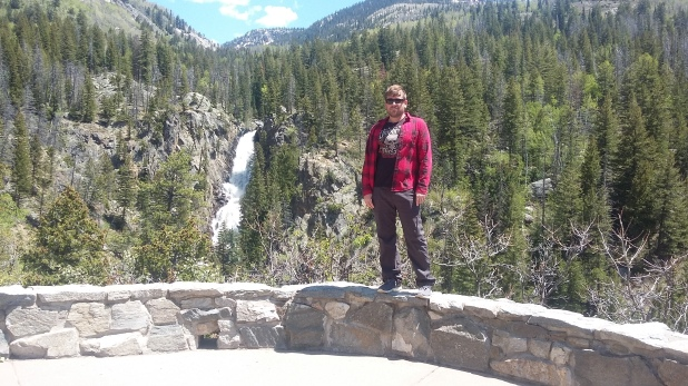 Ryan living on the edge at Fish Creek Falls, Steamboat Springs, Colorado