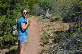 Courtney enjoying the beautiful weather while hiking the North Vista Trail, Black Canyon of the Gunnison National Park, Colorado