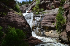 An unexpected waterfall on our way home, Route 133, Colorado