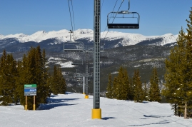 Going up, the lifts at Winter Park Ski Resort