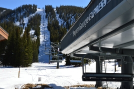 The Super Gage Lift at the bottom of Mary Jane. This is where we always start our ski days. Winter Park, CO