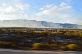The smoldering brush from the fire that delayed us on the Colorado/Utah boarder.