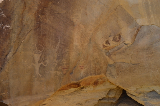 Petroglyphs created over 1000 years ago by the Freemont People, located in Dinosaur Nationl Monument, Jensen, Utah.