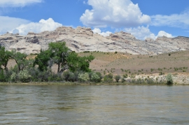 Views of the Green River from our camp at Green River Campground, Dinosaur National Monument, Jensen, Utah