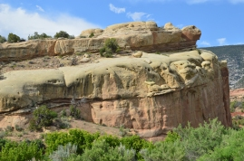 Stunninrg rock formations in Dinosaur National Park, Jensen, Utah