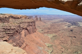 Be careful exploring Arches! This one was a gateway for a huge cliff dropoff. Arches National Park, Moab, UT