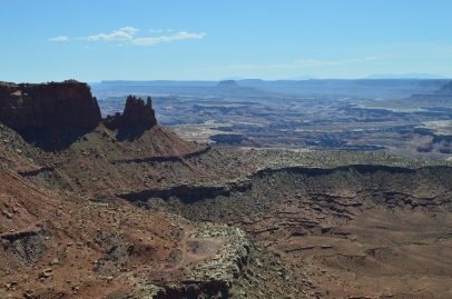 High above the canyons, they stretch for as far as I can see. Canyonlands National Park