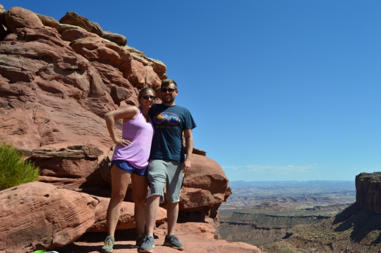 We made it! Grand viewpoint, Canyonlands Grandview Trail.