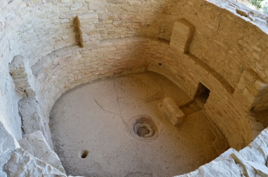 This is called a Kiva and it was used for spiritual ceremonies.