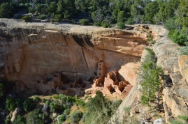 A cliff dwelling from a distance, Mesa Verde National Park
